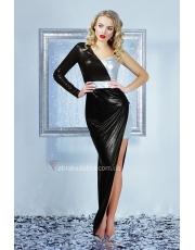 Асимметричное платье в пол Zlata