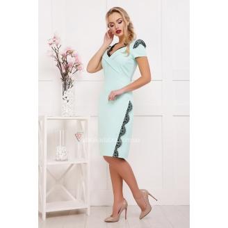 Платье с кружевными вставками Svetla