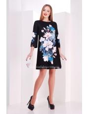 Платье трапеция в цветы Taya