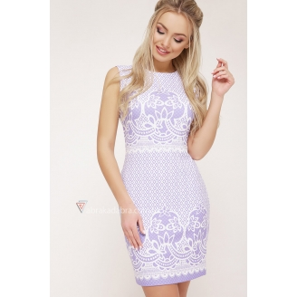 Облегающее платье мини без рукава Leyla