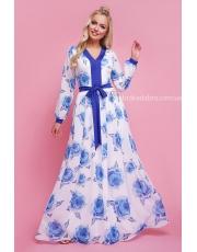Шифоновое платье в пол с длинным рукавом Karolina