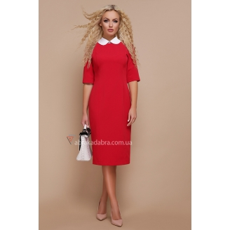 Прямое платье с воротником Undina