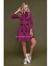 Замшевое платье расклешенное Deizi