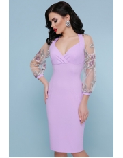 Вечернее платье с прозрачными рукавами Florencia