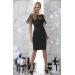 Вечернее платье с бахромой и прозрачными вставками Sheron