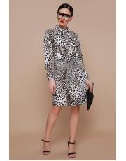 Леопардовое платье Aziza