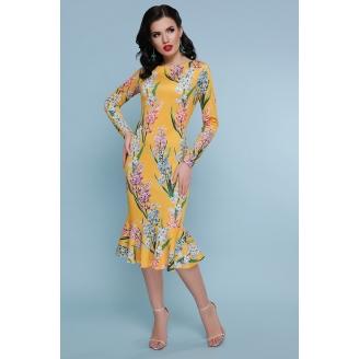Платье с юбкой годе в цветы Faina