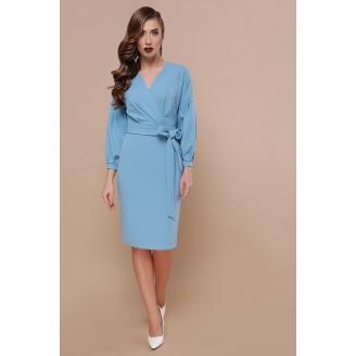 Платье с запахом с рукавами буфами Odri