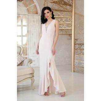 Вечернее платье в пол с разрезом Etel
