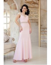 Выпускное платье в пол с открытой спинкой Alana
