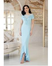 Вечернее платье в пол со вставками сетки Naomi