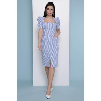 Платье с вырезом каре и рукавами фонариками Riana