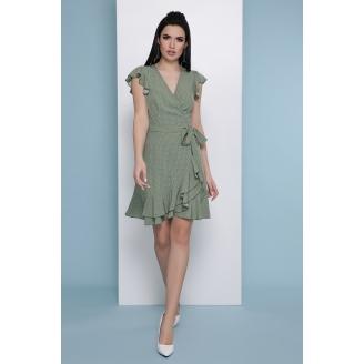 Платье в горошек на запах Sofia