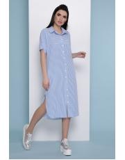 Летнее платье рубашка в полоску Daria