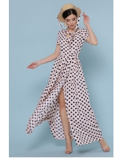 Платье макси в горошек Shaini