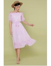 Миди платье с открытыми плечами Ustinya