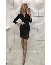 Платье с гипюром Solento