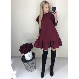 Платье трапеция с воланами Velina