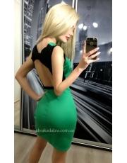 Мини платье по фигуре с открытой спиной Moli