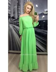 Шикарное платье макси с открытыми плечами Karmen
