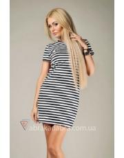 Платье футболка в полоску Viola