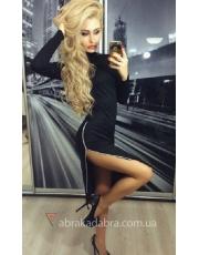 Облегающее платье с молнией-разрезом Villi