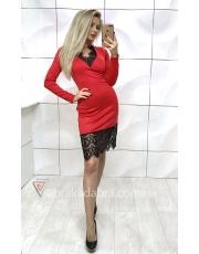 Платье с гипюровыми вставками Holika