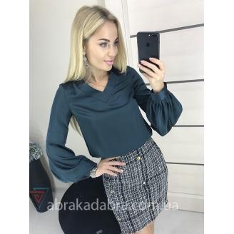 Шелковая блуза с объемными рукавами Big