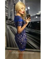 Вечернее мини платье из кружева Zia