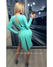 Короткое платье с декоративным поясом и клиньями Bella