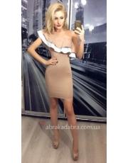 Платье с воланом на одно плечо Chloe