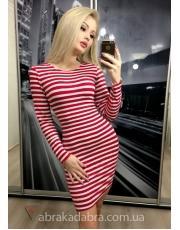 Полосатое платье по фигуре Ida