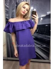 Платье с оборкой на плечах Renata
