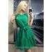 Расклешенное платье с поясом Prima