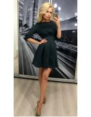 Платье со складками в клетку Diore