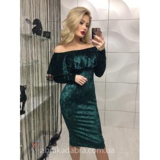 Платье с воланом Helena