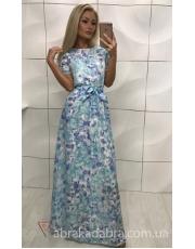 Длинное платье в цветок Maxima
