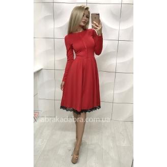 Платье миди с расклешенной юбкой Milena