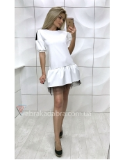 Платье с воланом и сеткой по низу Doll