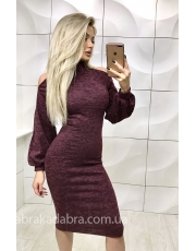 Зимнее платье с разрезами на плечах Soft