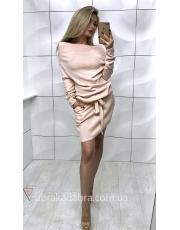 Зимнее платье с открытыми плечами Kira