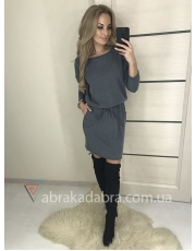 Зимнее свободное платье из ангоры Karin