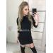 Платье свитер со шнуровкой на спине Mia