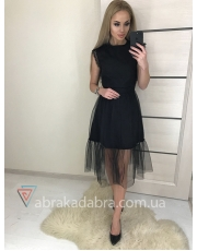 Коктейльное черное платье Sofi
