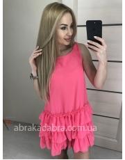 Платье с рюшами из шифона Liza