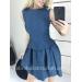 Жаккардовое платье с расклешенной юбкой Zhaki