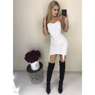 Вечернее платье с бахромой New
