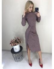 Платье с разрезом миди Lora
