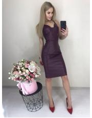 Кожаное платье в бельевом стиле Nice