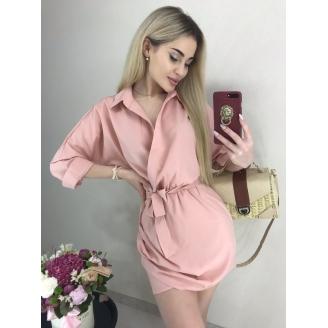 Платье рубашка под пояс Nona